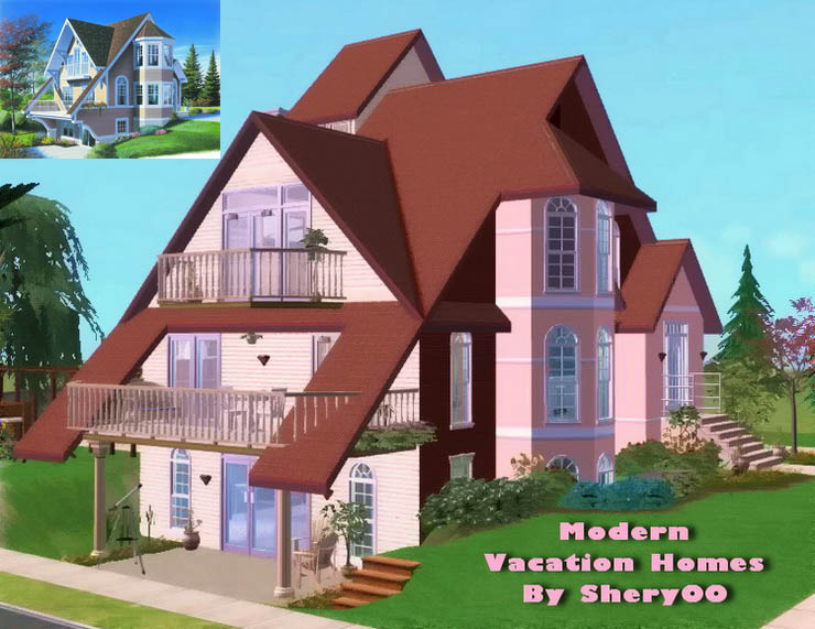 Mod the sims modern vacation homes basegames only for Modern vacation homes