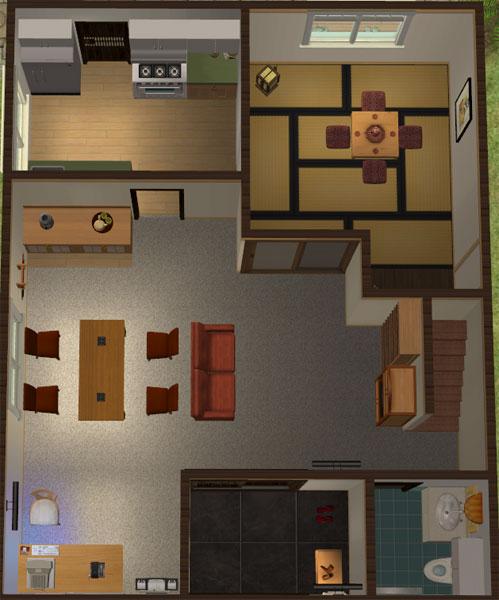 Japanese Home Layout Mod The Sims  Katamari Village  #3 Yamada Residence A Japanese .
