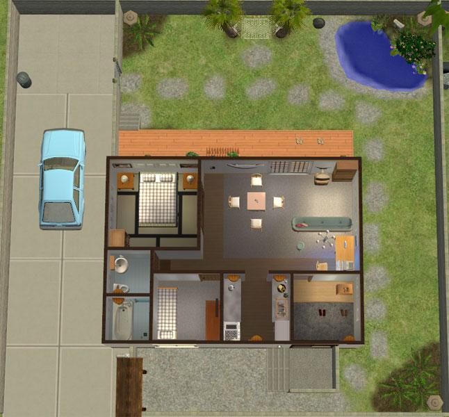 Japanese Home Layout Mod The Sims  Katamari Village  #4 Todoroki Residence A .