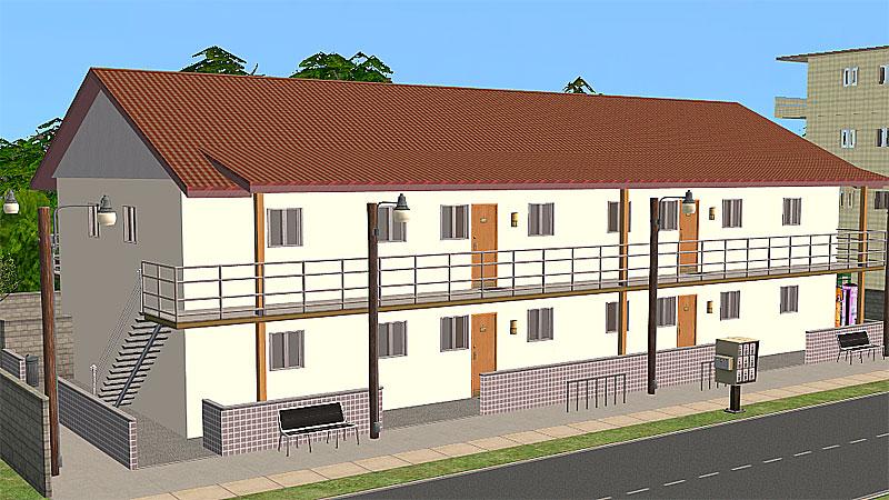 Mod the sims katamari apartments for Apartment design sims 3