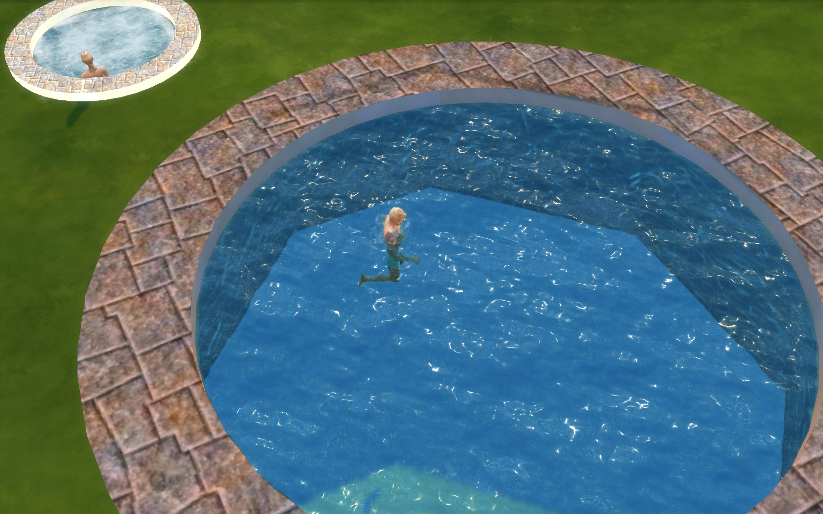 Mod The Sims - Matching Pool Frame and In-Ground Hot Tub