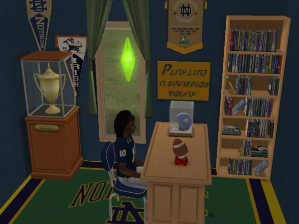 Mod The Sims Play Like A Champion Today Notre Dame Sign