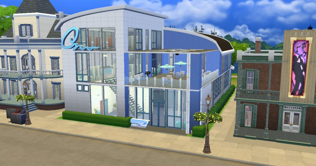 Mod The Sims - Blue Gym and Pool a Community Lot