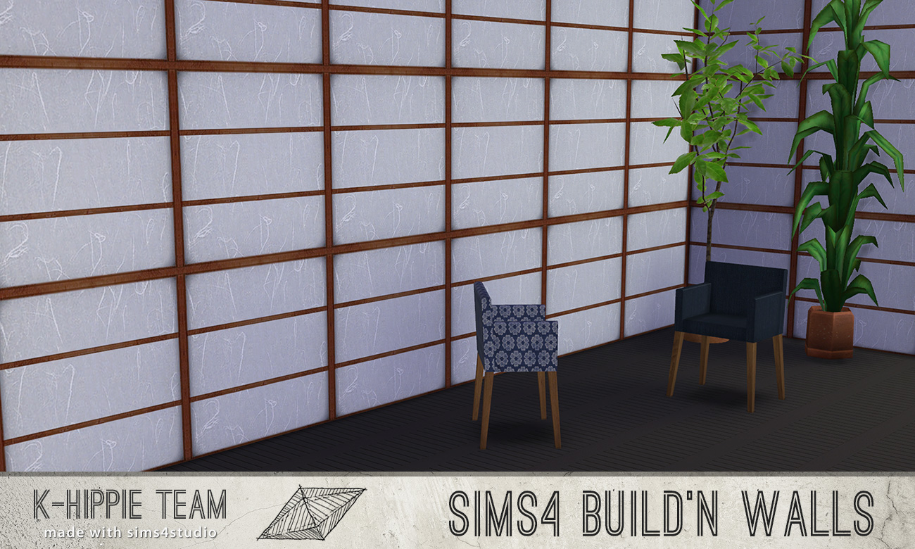 Mod The Sims Nihon Set Rice Paper Walls Amp Wood Floors