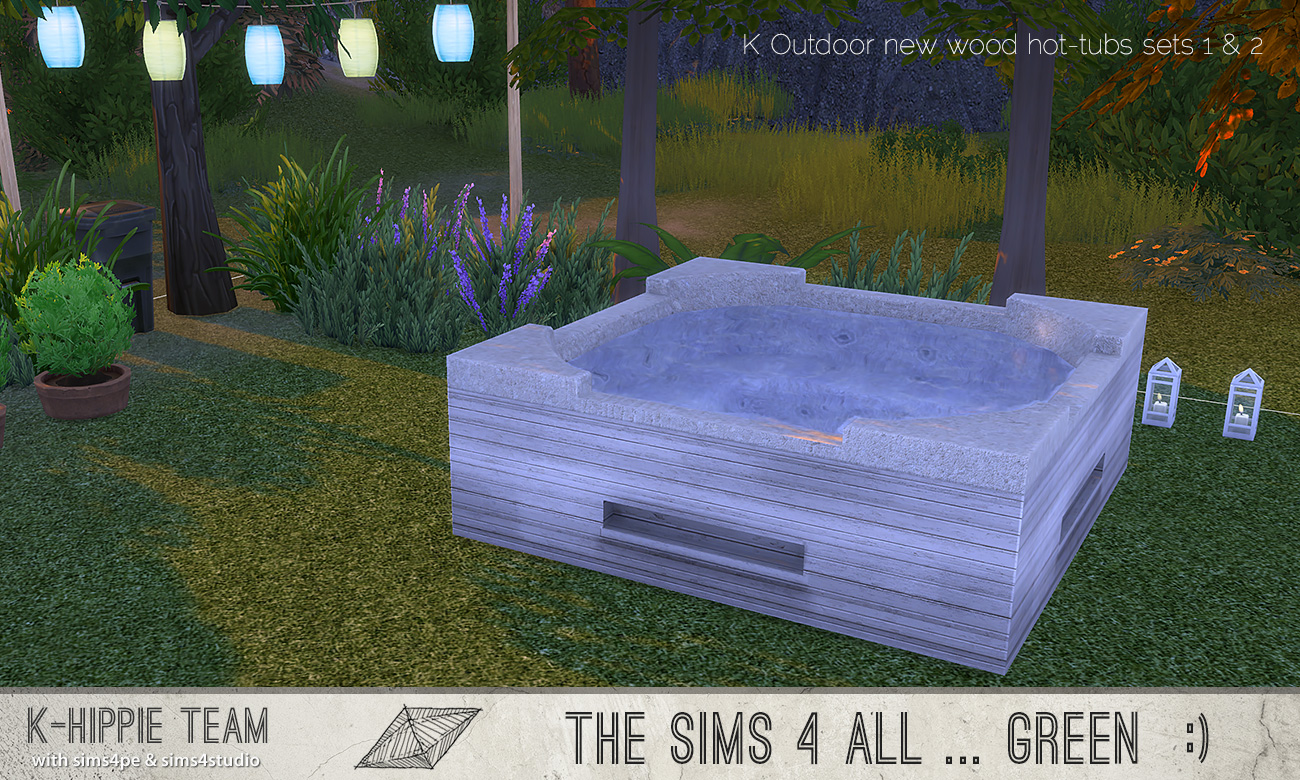 Mod The Sims - 7(x2) K Woody Hot Tubs - sets 1 & 2