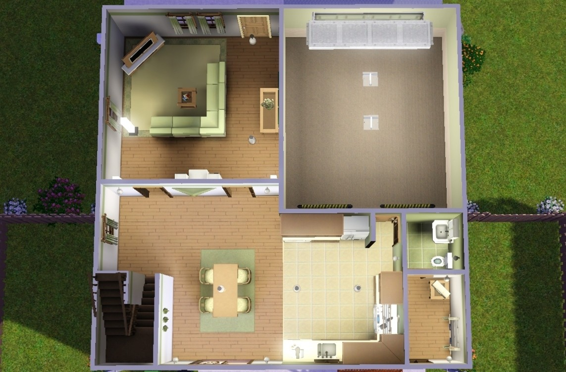 Mod the sims earthy bungalow Master bedroom with attached nursery