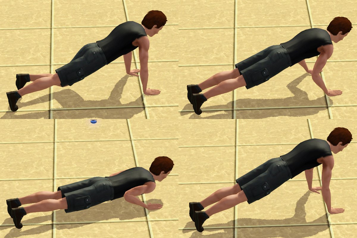mod the sims   pushup animation package