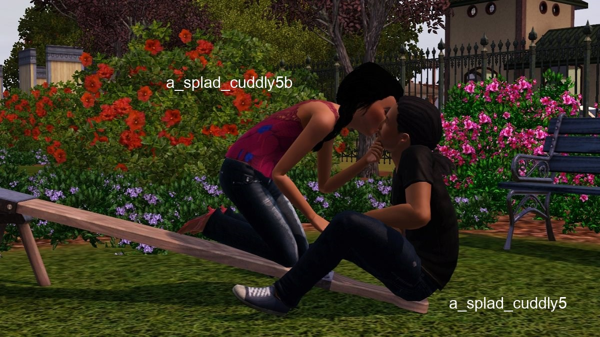 Mod The Sims - i wanna hold your hand -- an adult/teen pose set
