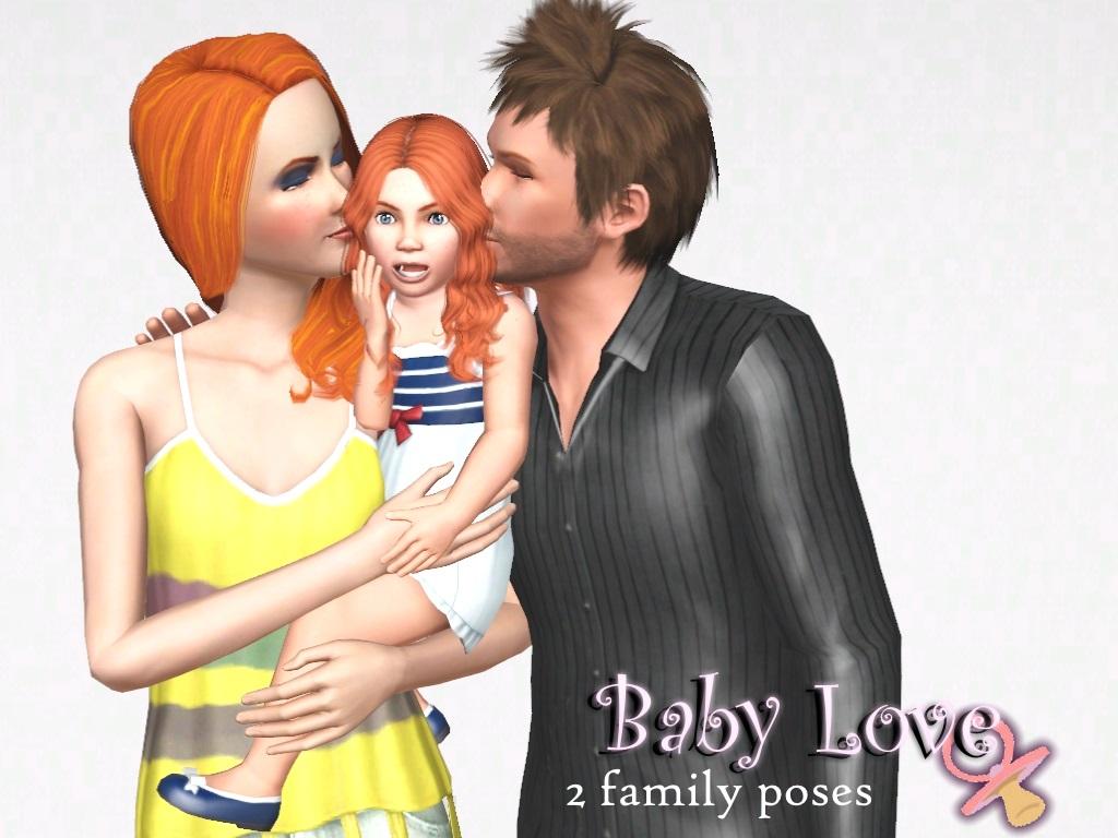 Sims 3 Family Pose