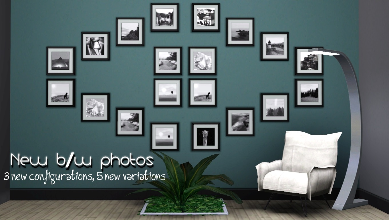 Mod The Sims - Quad B/W photos--new pictures, new frame configuration.