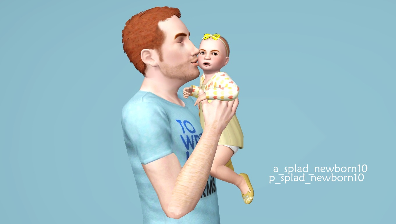 Mod The Sims - Wub U Daddy--10 adult/toddler poses