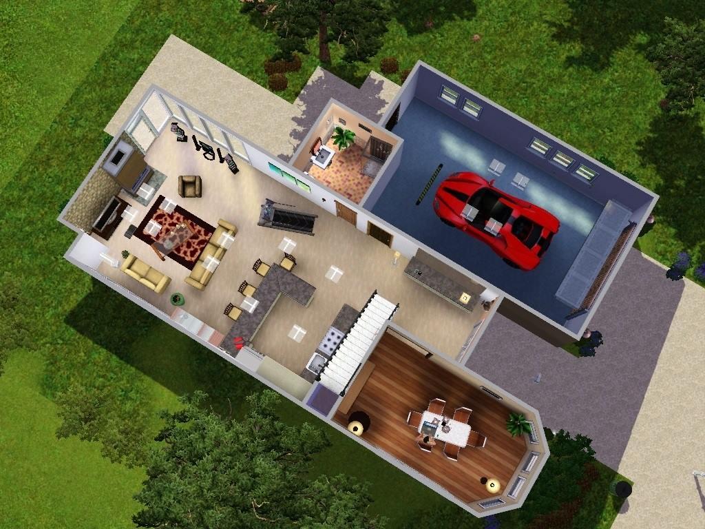 Mod the sims modern loft - Simulation plan maison ...