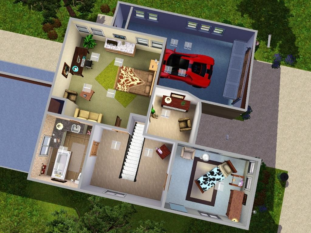 Modern loft floor plans for Small modern house plans with loft