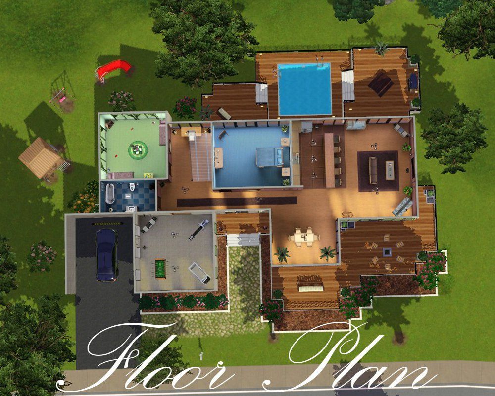 Sims 1 house floor plans home design and style for Sims 4 house plans
