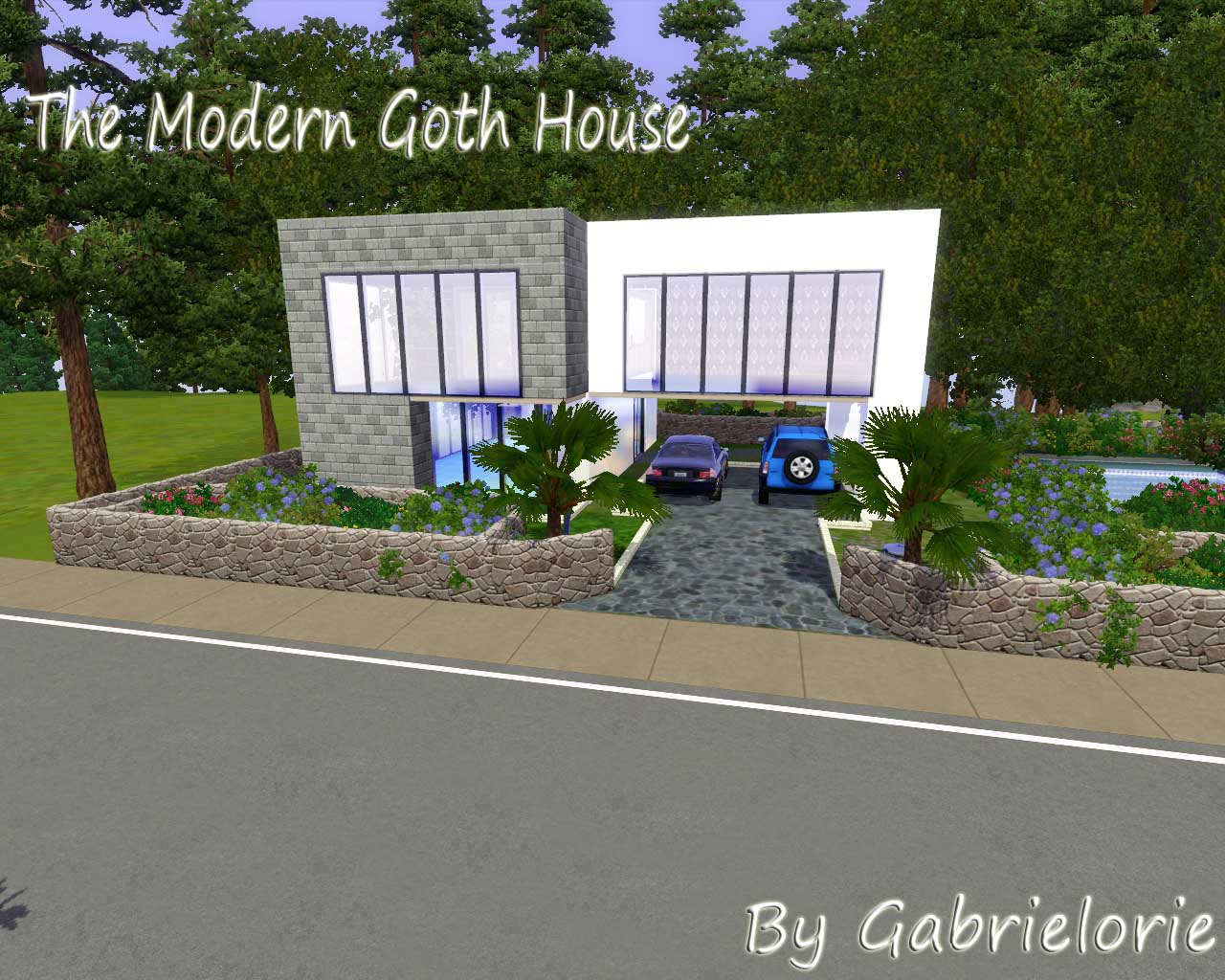 mod the sims the modern goth home base game no cc. Black Bedroom Furniture Sets. Home Design Ideas