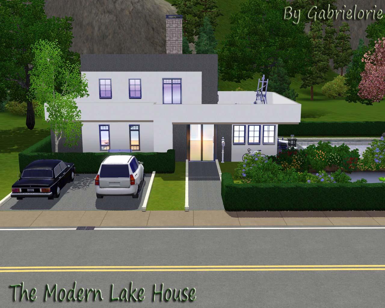 Mod The Sims The Modern Lake House Base GameNo CC