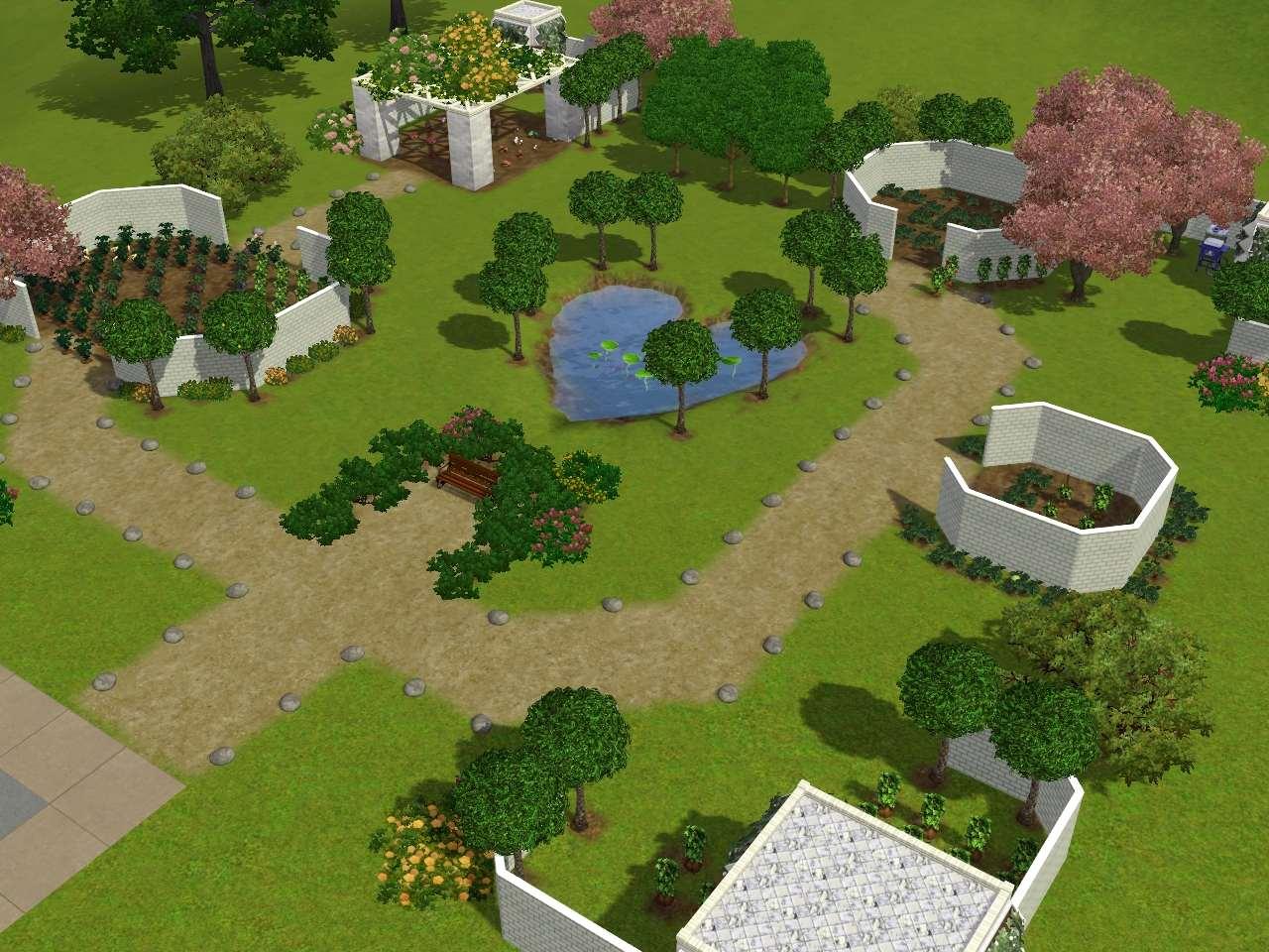 Sims 3 garden gardens design ideas for Garden design sims 4