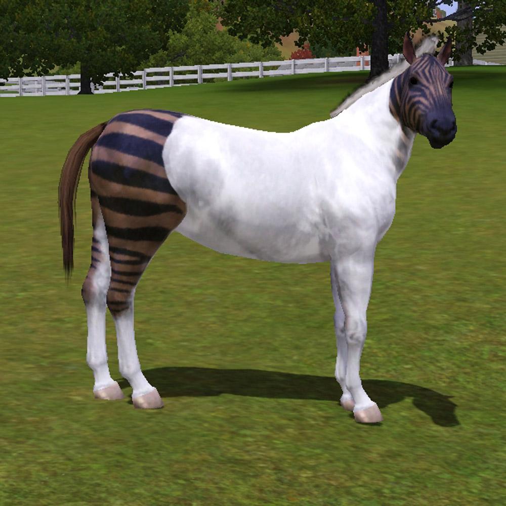 Mod The Sims The Zebra Horse Quot Stripes Revolution Quot