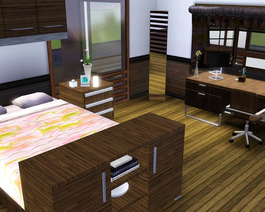 mod the sims japan inspired modern house