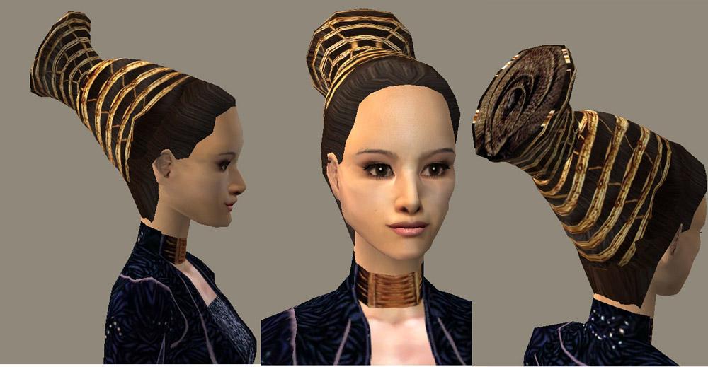 Mod The Sims - Hair Style for queen Amidala
