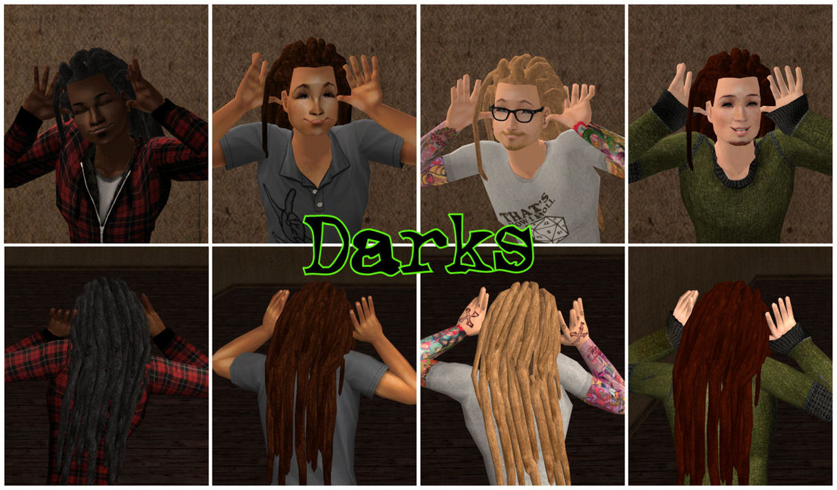 Mod The Sims 3 Styles Of Compulsive D Dreads With Nouk