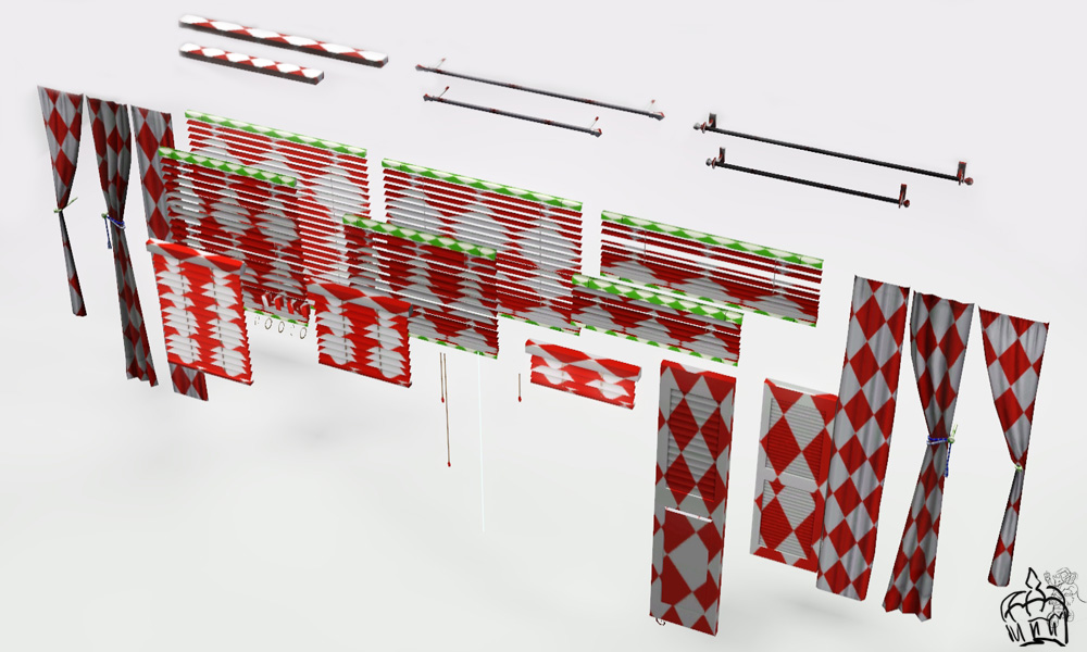 Mod The Sims Diy Curtains Blinds Amp Shutters