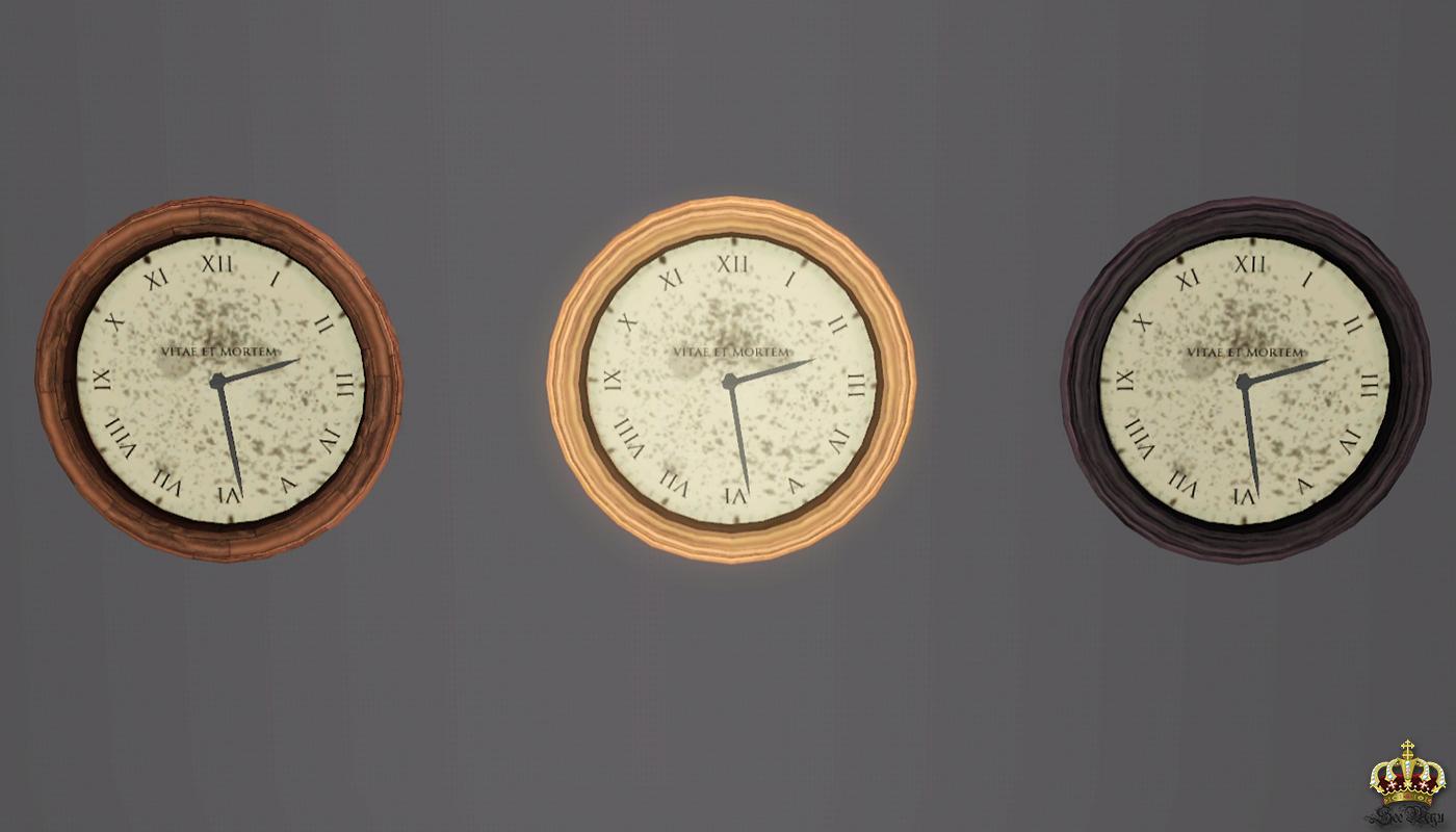 Mod The Sims Five O Clock Somewhere A Clock Set