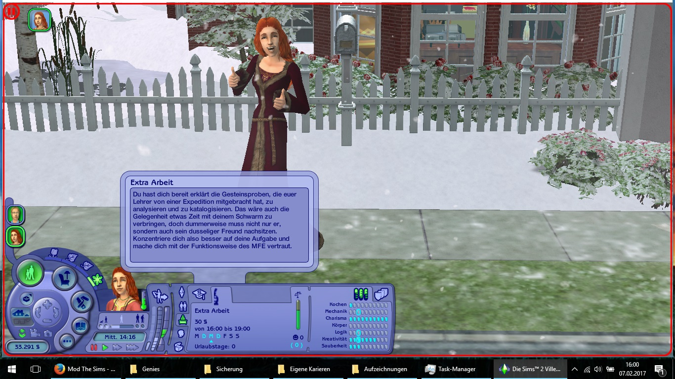 mod the sims two teen careers genius based on wicked science advertisement