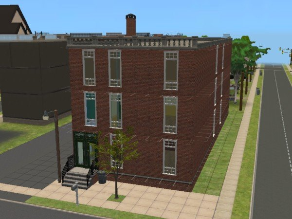 Mod The Sims - 1894 3 Story Apartment Building