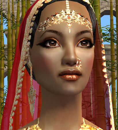Mod The Sims Indian Costume Makeup Part Of Quot Red With
