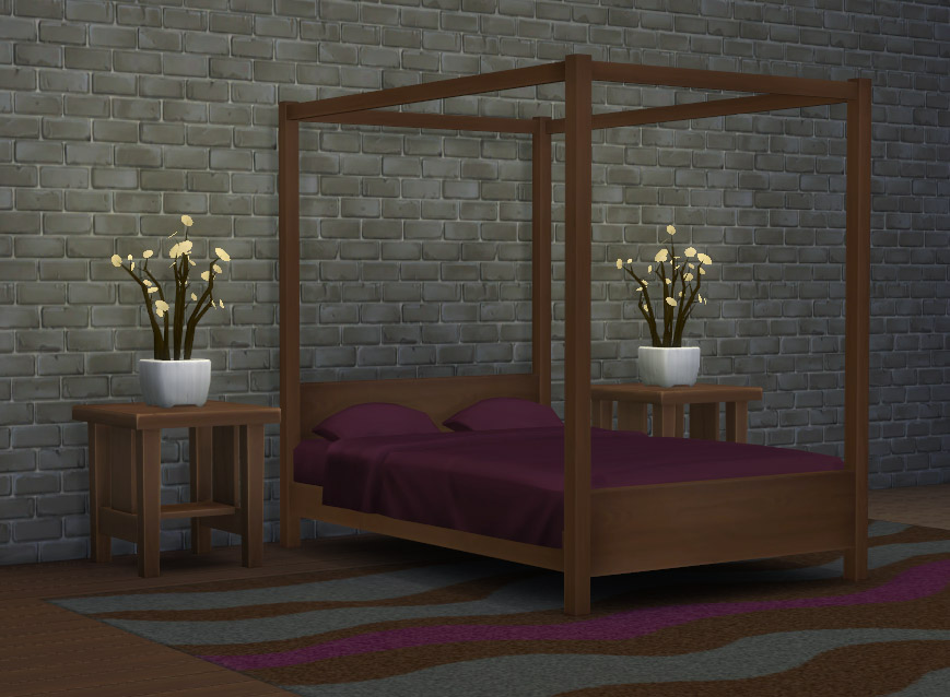 Modern Four-Poster Double Bed