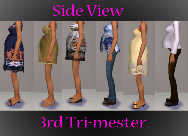 Mod the sims quot materniteen quot teen maternity clothes