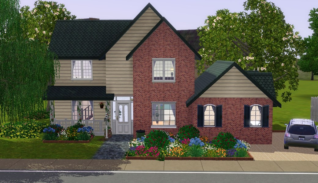 Mod the sims the suburban house part i for Classic house sims 3