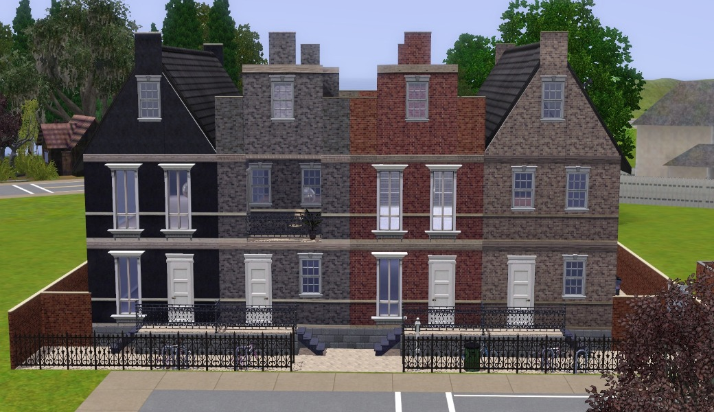 Mod the sims the dutch row houses for Dutch house