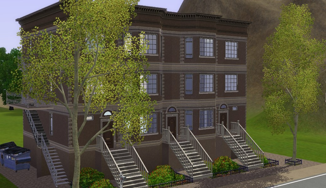 Mod the sims three in a brownstone row for Classic house sims 3