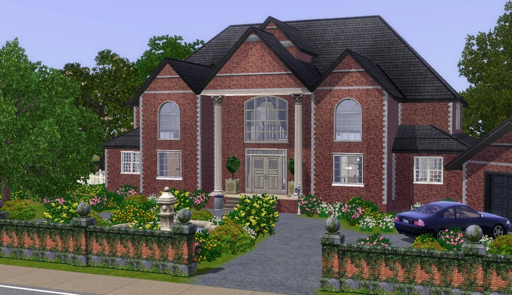 Mod the sims the family mansion update sunken lot tip for 3 4 house