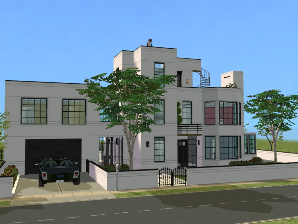 Mod the sims the brixham a 4 bedroom art deco home for Deco appartement sims 4