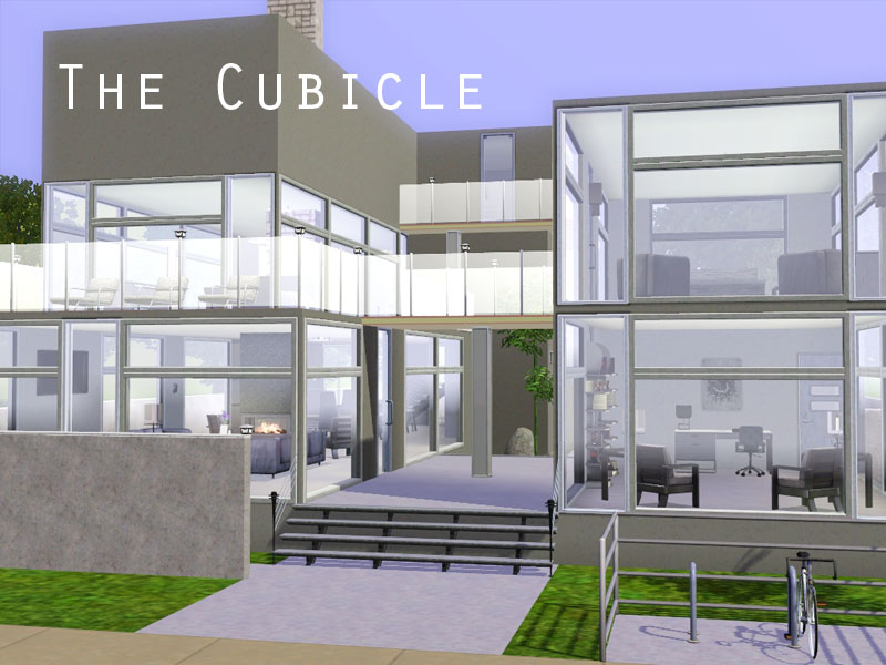 Mod the sims the cubicle a modern home for Best house designs for the sims 3