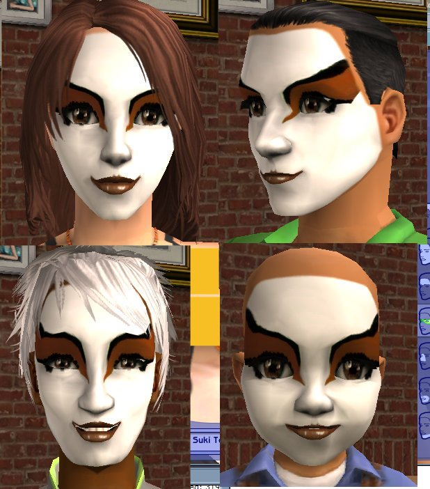 Sims 4 Avatar: Suki's Facemask From Avatar: Last Airbender