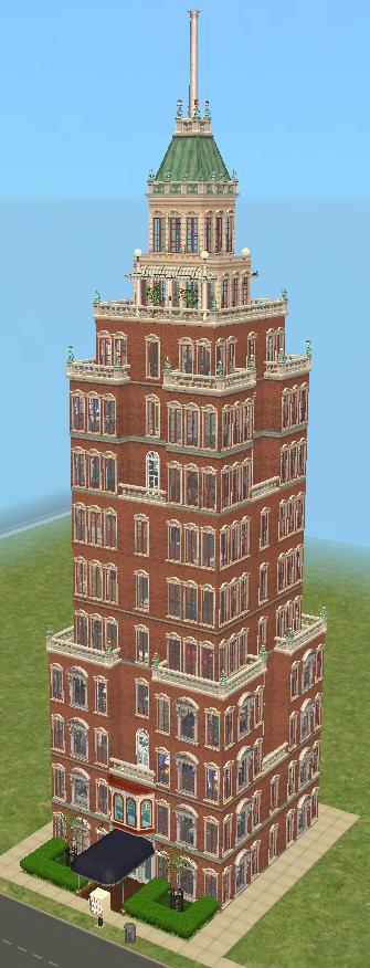 mod the sims   sinclaire building   art deco skyscraper