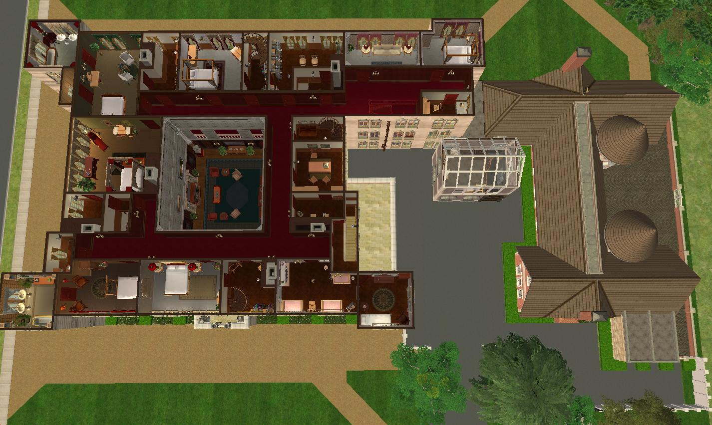 Mod the sims downton abbey highclere castle no cc for Classic house sims 3
