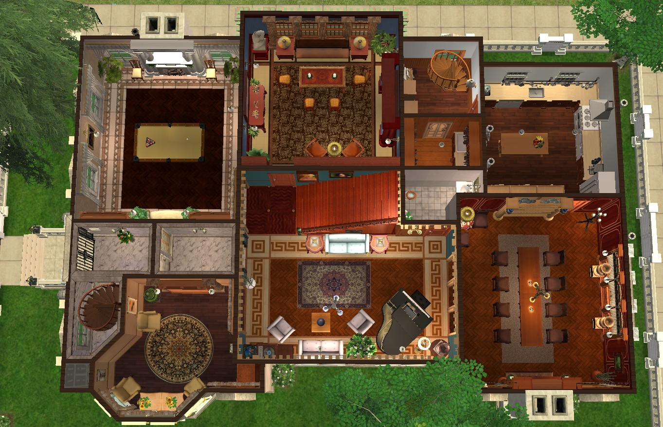 548617 on Sims 3 Mansion Floor Plans