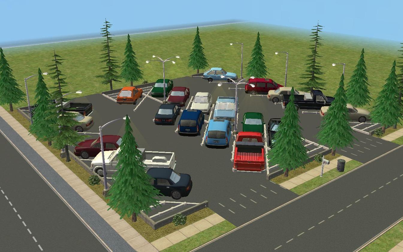 Mod The Sims - SimCity Parking Lots - 5 Lots - NO CC