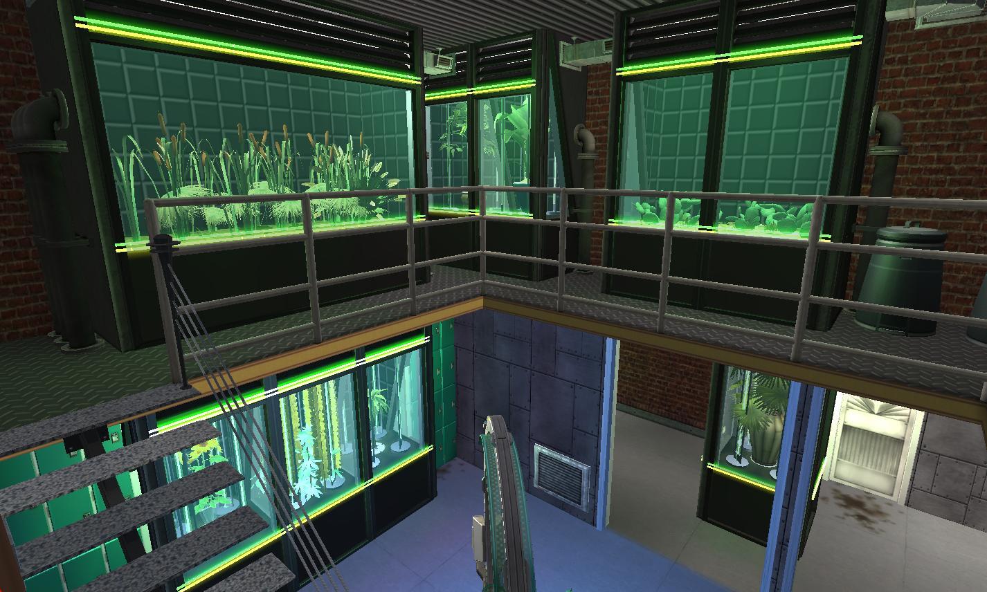 Mod The Sims - Cyberpunk Bio-Lab + Home Business - NO CC