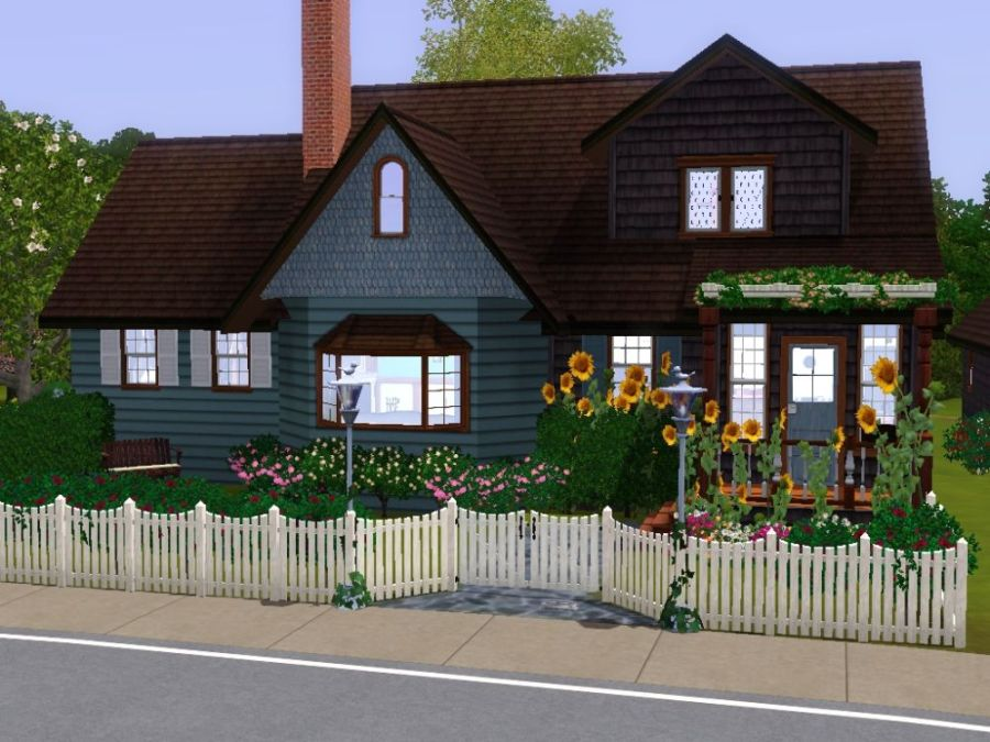 Stupendous Mod The Sims Cute Family Cottage Move In Today Updated Largest Home Design Picture Inspirations Pitcheantrous