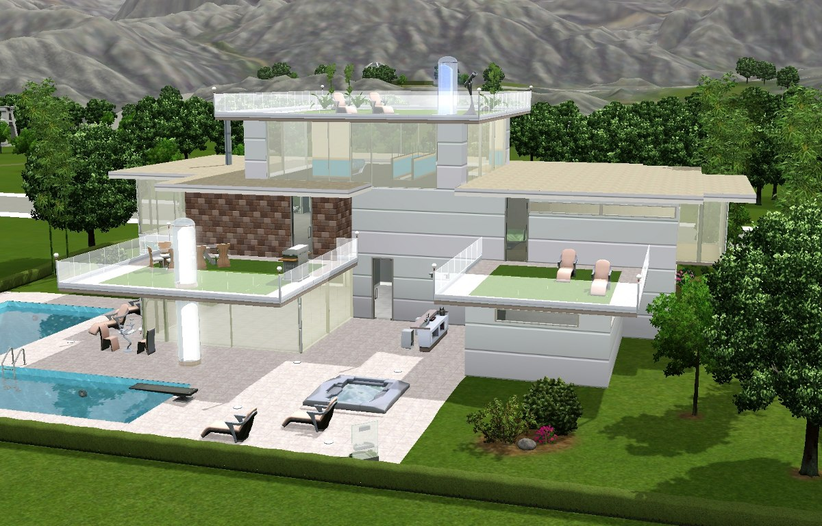Mod The Sims Outside In A Futuristic Abode CC Free