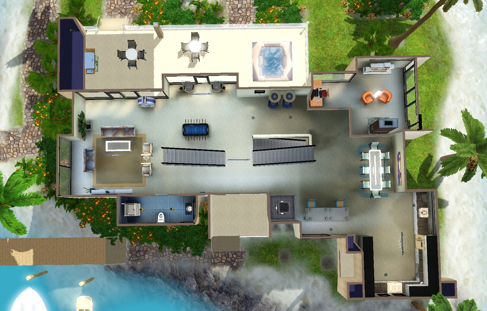 Sims  Downloads Gaming Room Lots
