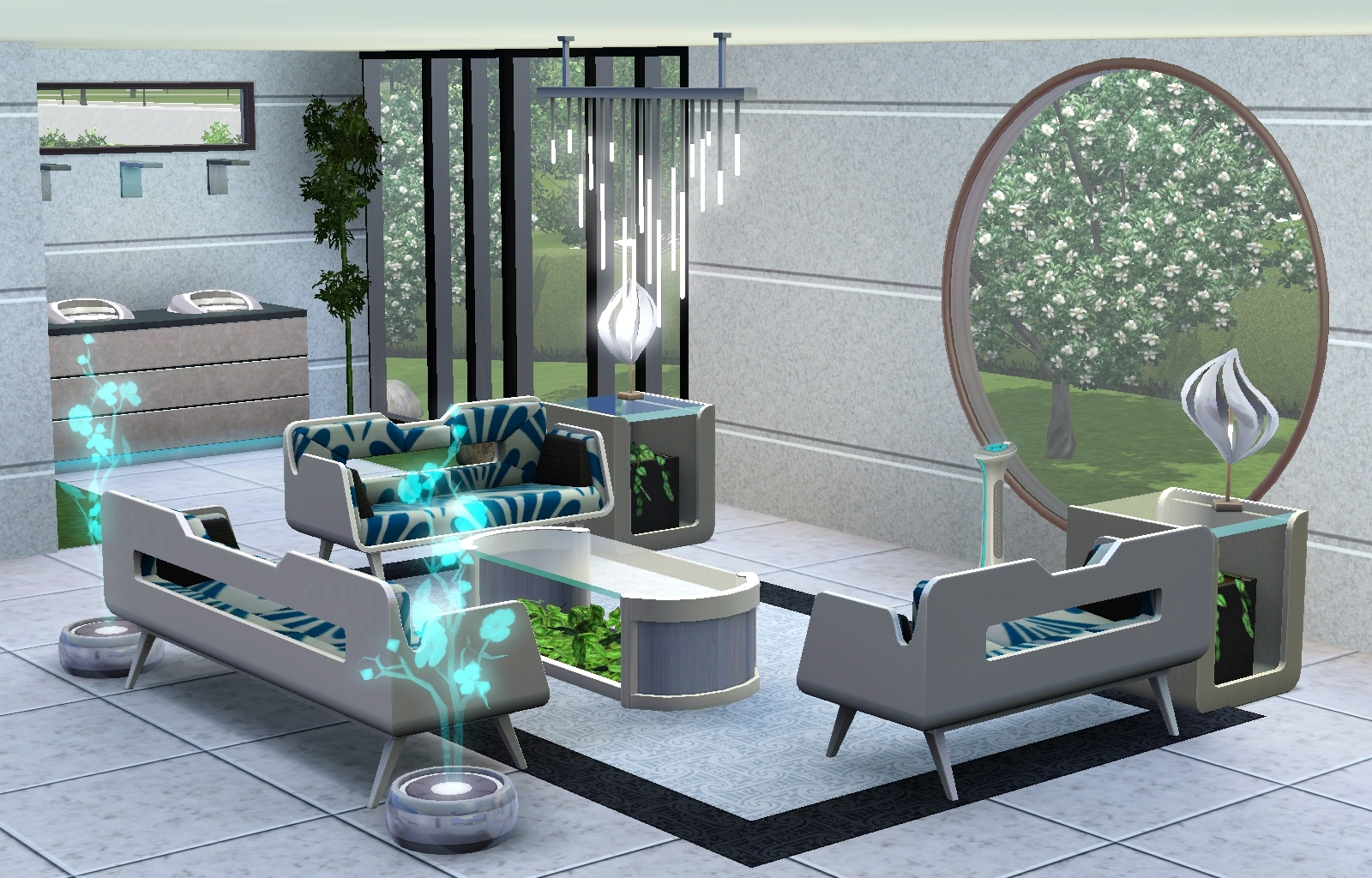 futuristic 4 bedroom house house design and decorating ideas - Sims 4 Home Design 2