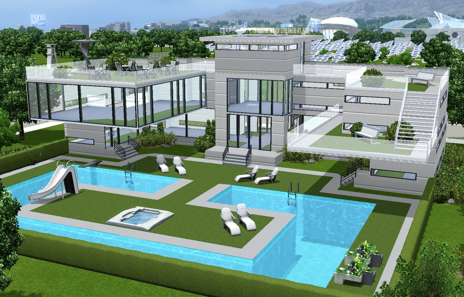 Mod the sims wavera pool and cafe pool for oasis landing for Pool design sims 3