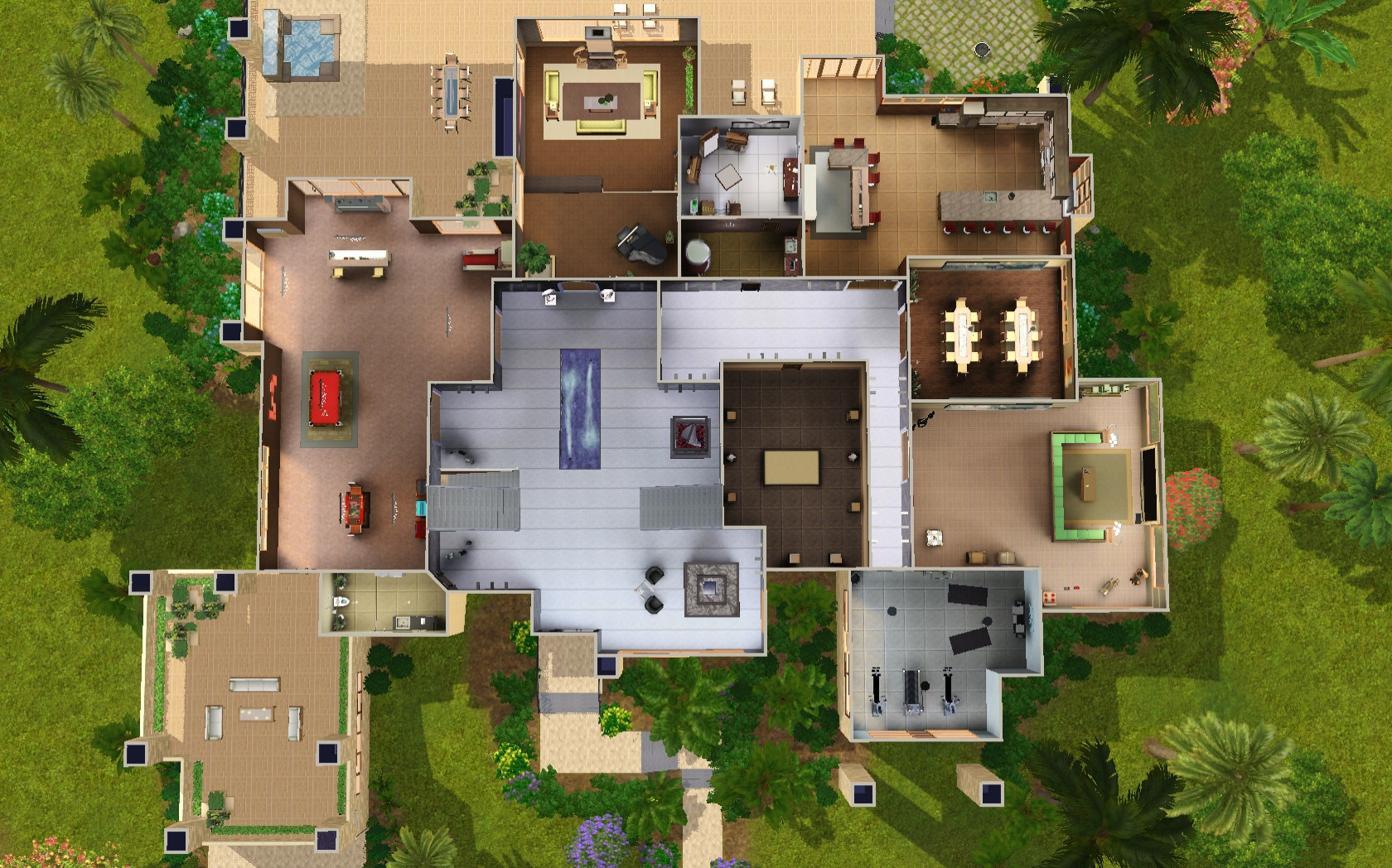 mod the sims huuuge modern mansion advertisement